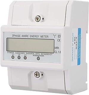 Medidor de Energía Consumo de Energía Medidor de Energía Eléctrica Digital 3 Fases 4P 220 / 380V 20-80A KWh Medidor con LCD