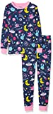 Hatley Organic Cotton Long Sleeve Printed Pyjama Sets Conjuntos de Pijama, Animal Cosmos Glow, 4 años para Niñas