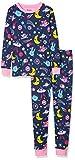 Photo de Hatley Organic Cotton Long Sleeve Printed Pyjama Sets Ensemble, Animal Cosmos Phosphorescent, 3 Ans Garçon par