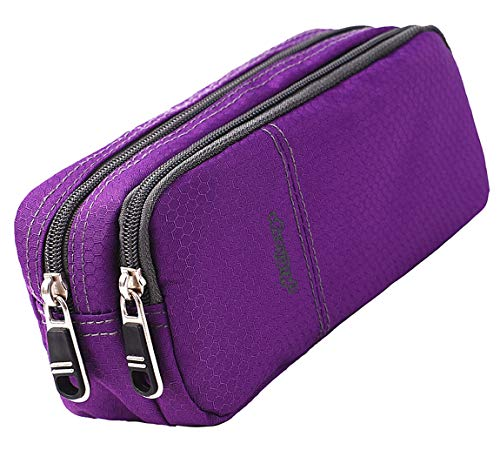 Pencil Case Large Pencil Pouch Pencil Bag with Double Compartments for Girls Boys Adults (purple)