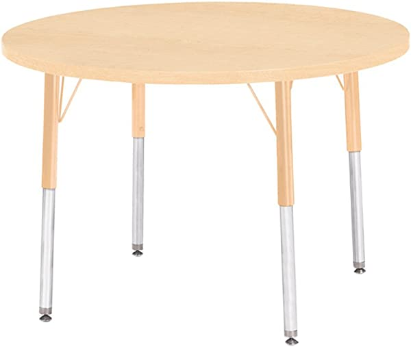 Berries 36 In Prism Round Activity Table In Maple