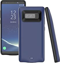 Note 8 Battery Case,Accerzone Galaxy Note 8 5500mAh External Backup Portable Charging Pack for Samsung Galaxy Note 8,Rechargeable Impact-Resistant Power Bank Case (Blue)