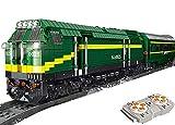 Brigamo Costruzioni treno treno radiocomandato diesel con motore, Servo & telecomando da 2,4 Ghz e accessori per binari