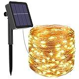 Btfarm Guirnalda de Luces Solares, 12m 120 LED 8 Modos Luces LED Solares para Exteriores, Impermeable Cadena de Luces...