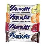 Xenofit Energy bar - Barritas energéticas de sabor mixto, 4 x 50 g