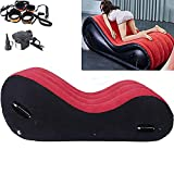 Inflatable S#ẹ@x Sofa with Handle Aid Enhance Cushion Bed Portable Red Furnitures Set