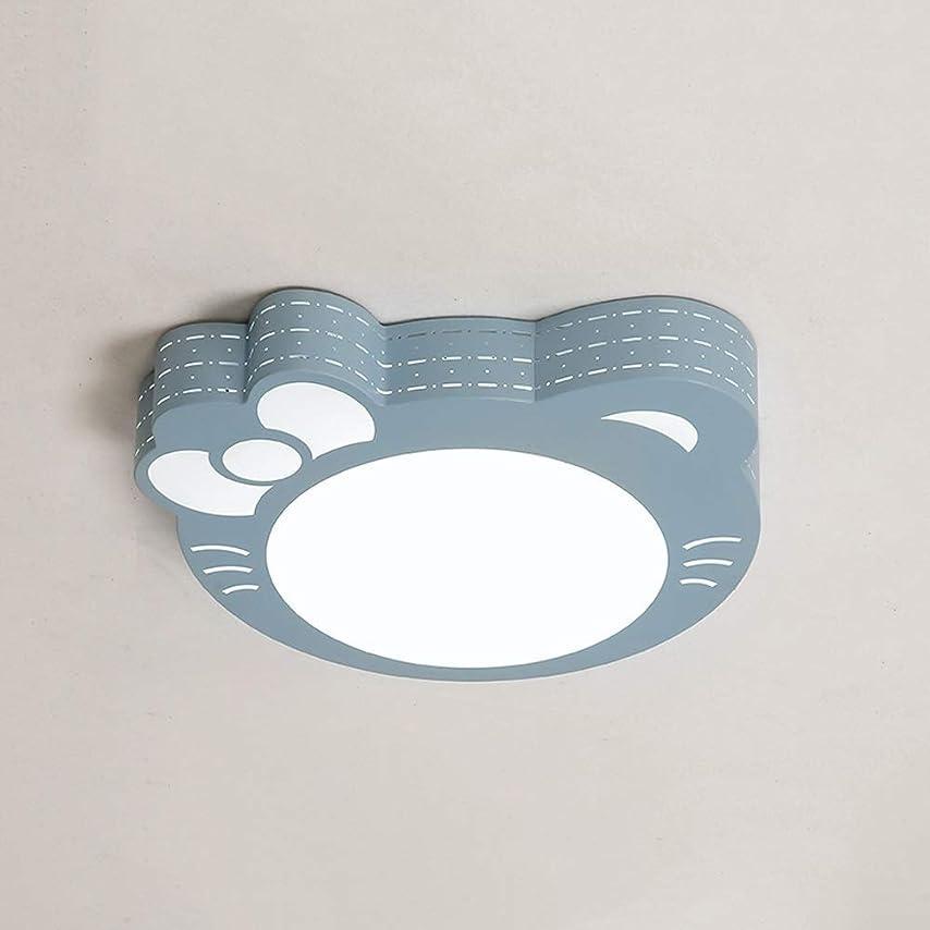 安定しました人間サッカーDULG 子供部屋寝室の天井ランプLED王女暖かい部屋ピンク猫ロマンチックなラウンドライトクリエイティブボーイ女の子人格照明シンプルモダン天井ランプledシャンデリア (Color : Blue, Size : C)