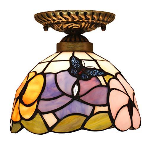 Odziezet Plafoniere Stile Tiffany Lampade Vintage Illuminazione per Interni e Esterni