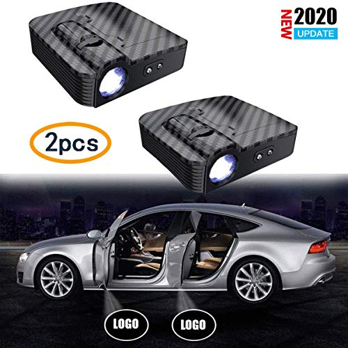 Upgraded No Magnet Qinsir Wireless Car Projection Lamps,Car Door Led Logo Projector,Parking Lights,Side Lights Universal Modified Wireless Lamp Welcome Ghost Shadow Light 2019 2PCS,for Honda