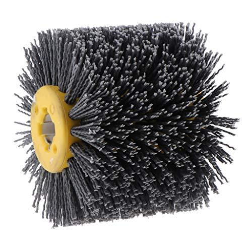 Fenteer Nylonbürste Rundbürste Tischfräse zu Bürstenschleifer, Körnung 80-240 - 120 Körnung