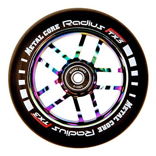 Metal Core Rueda Radius para Scooter Freestyle, Diámetro 110 mm (Rainbow)
