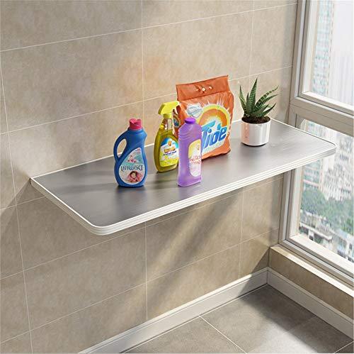 Colgando Cocina lateral Soporte de la mesa Montado en la pared Marco Laptop Stand Mesa plegable Acero inoxidable de sobremesa para espacios pequeños,60 * 40cm