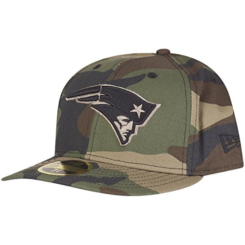 New Era 59Fifty LOW PROFILE Cap - New England Patriots wood - 7 1/4