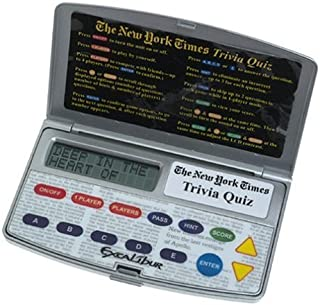 THE NEW YORK TIMES TRIVIA QUIZ (2003) Electronic Game by Excalibur Electronics #458