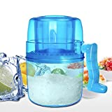 Ice Shaver, Shaved Ice Machine, LEMBO DIRECT Premium Manual Hand Crank Operated Ice Breaker Ice Crusher Maker Snow Cone Machine with Stainless Steel Blades for Fast Crushing, Fun and Easy Iced Treat