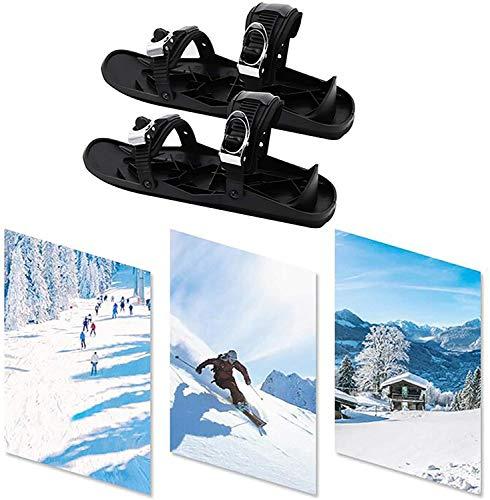 SOAR Raquetas Nieve Mini Patines de esquí para Nieve Los skiboard Cortos Skiboard Snowblades, Zapatos de Patines portátiles para Nieve, Equipo de Deportes de Invierno al Aire Libre