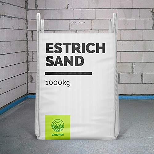 Estrichsand - Sand für Beton und Estrich im praktischen BigBag 1000 - 5000 kg - versandkostenfrei