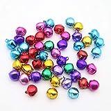 Qiwenr 300Pcs Campanellini Colorati,8MM Campanellini Natale Colorati Mini Natale Jingle Bells Campanellini Sonagli Piccoli Campanellini Metallo per la Decorazioni,per Decorazioni Artigianali