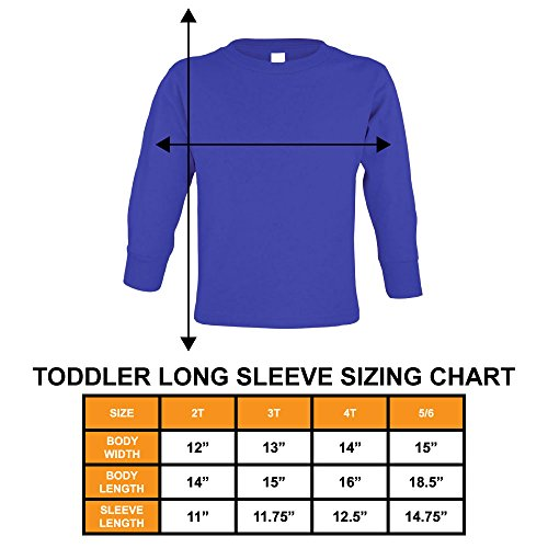 Types of Trucks - Garbage Monster Fire Long Sleeve Toddler Cotton Jersey Shirt (Navy Blue, 2T)