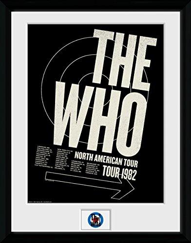 GB Eye Ltd The Who, Tour 82Kunstdruck, gerahmt, 30x 40cm, verschiedene