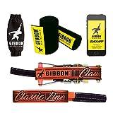 Gibbon Slacklines クラシックライン ツリーウェア レッド 49フィート (41フィート ライン + 8フィート ラチェットストラップ 強化ループ付き ) ラチェット保護、ツリーとライン保護、幅50mm/2インチ