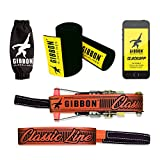Gibbon Slacklines Classicline with treewear, red, 49ft (41ft line + 8ft Ratchet Strap with Reinforced Loop) incl. Ratchet Protection, Tree and line Protection, 50mm/2' Wide