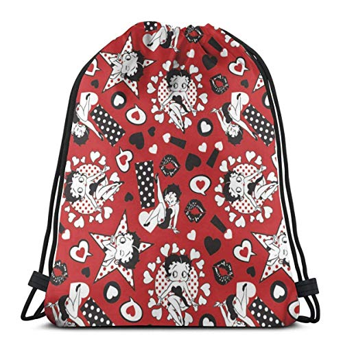 Mochila con cordón Betty Boop ligera clásica personalizada bolsa deportiva mochila