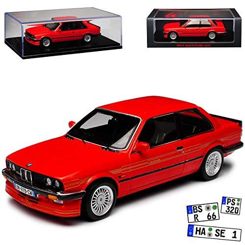 Spark B-M-W 3er Alpina B6 3.5 E30 M3 Coupe Rot 1982-1994 1/43 Modell Auto