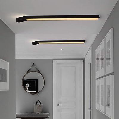Lozse LED Deckenleuchte weiß 36W Holz Deckenleuchten für