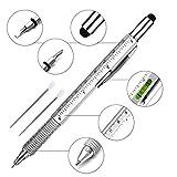 Super 6 in 1 Multifunktions Stift Lineal, Wasserwaage, Kugelschreiber, Stylus, flach Kopf oder...