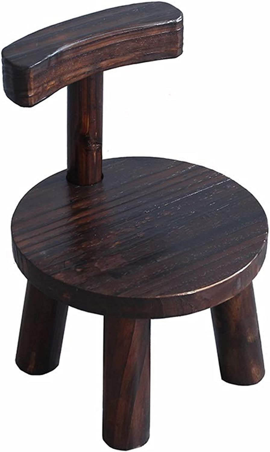 Lsxlsd Small Wooden Bench Small Bench Wood Stool Creative shoes Bench Living Room Coffee Table Stool Adult Stool Back Home Low Stool