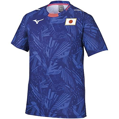 [ミズノ] 応援Tシャツ JAPANロゴ 選手団着用 日本代表 レプリカモデル ユニセックス ジュニア有り 32MA0505 ブルー XL