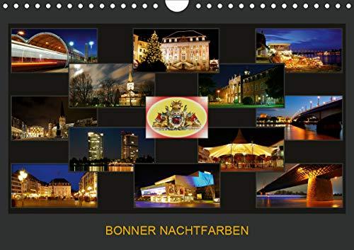 BONNER NACHTFARBEN (Wandkalender 2021 DIN A4 quer)