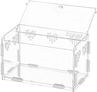 Acrylic Terrarium,Transparent Pet Reptile Box Aquarium Breeding Tank Ventilated Feeding Container Animal Habitat Cage