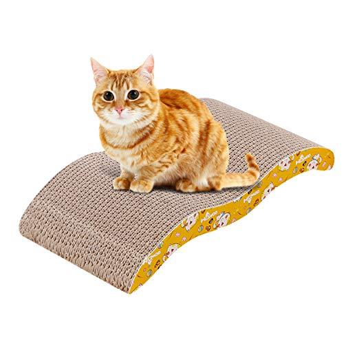 Zubita Tiragraffi per Gatti, 100% Riciclabile Cartone Ondulato Gratta con Catnip Ideale Come Lounge, Letto, Palestra e Graffiatoio, per Protegge Tappeti e Divani (44 x 21.5 x 7.5cm)