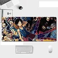 ワンピースXXLアニメマウスパッド速度ゲーミングマウスパッド-コンピューターマウスパッド-3mm滑り止めゴム、ゲーマーコンピューター、PC、ラップトップ用-A_800X300X3mm