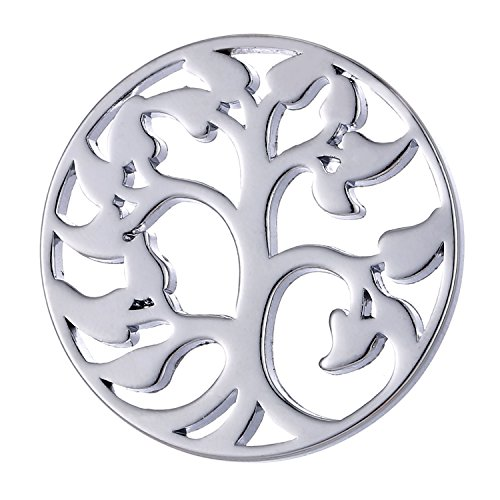 Morella Damen Coin 33 mm Lebensbaum Silber