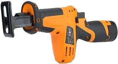 Calidad 12V Inalámbrico sierra alternativa batería de litio Handheld sin cuerda sierra alternativa fit for el tubo de madera Peso (Color : Yellow)