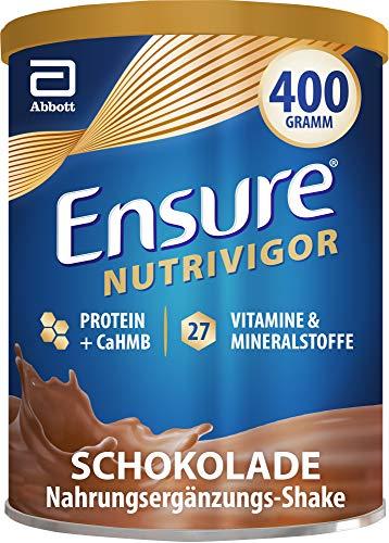 Ensure NutriVigor Schokolade – Nahrungsergänzungspulver mit Proteinen – Gluten- und laktosefrei – 1 x 400 g