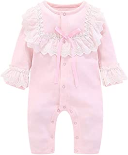 Fairy Baby Newborn Baby Girls Outfit One Piece Lace Romper Cotton Princess Jumpsuit