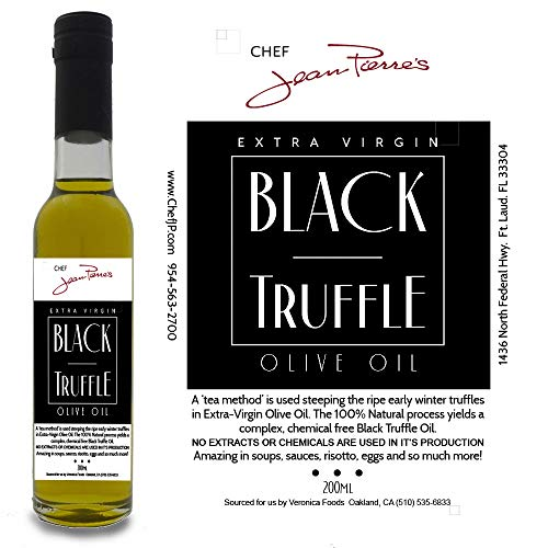 Black Truffle Oil SUPER CONCENTRATED 200ml (7oz) 100% Natural NO ARTIFICIAL ANYTHING with a Gift of Black Truffle Salt