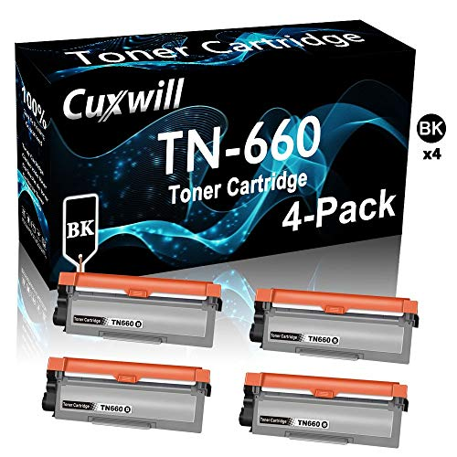 Compatible 4-Pack TN660 TN-660 Laser Printer Toner Cartridge Used for Brother MFC-L2680W MFC-L2685DW MFC-L2700DW Printer, by Cuxwill -  CX-359