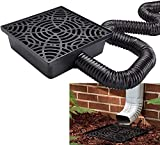 Wholesale Plumbing Supply 12-in. No Dig Low Profile Catch Basin Downspout Extension Kit, Black