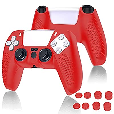 Amazon - 50% Off on ps5 Controller Skins, Silicone Cover Skin Case with 8 Thumb Grip Caps