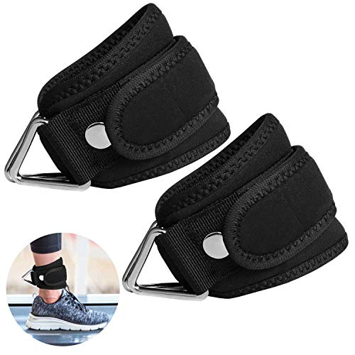 SUPRBIRD Grip Power Pads Best Ankle Straps for Cable Machines Adjustable Neoprene Premium Cuffs to Enhance Legs, Abs & Glutes For Men & Women (L)