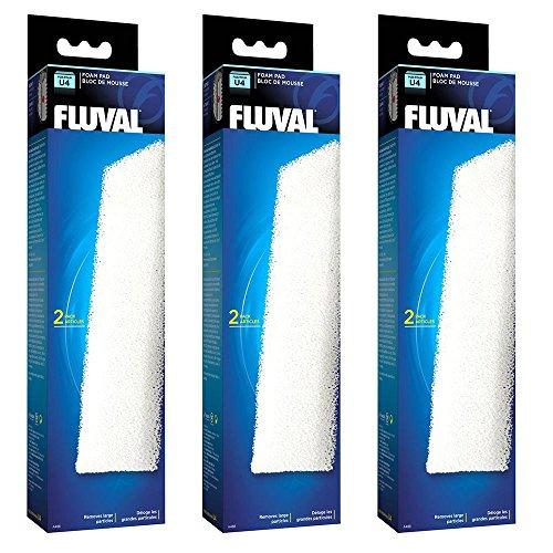 Fluval Almohadillas de espuma de filtro U4, paquete de 3 x 2