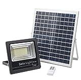Lampe Solaire Extérieur 80W, Projecteur LED Solaire 4000K, Spot Solaire 120 LEDs, Eclairage Solaire Plus Brillante 3000 LM, IP66