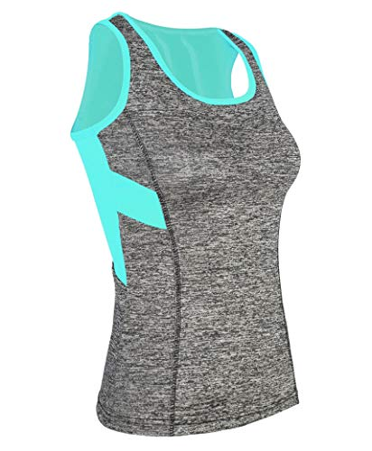 LOTMART 0216 Turquesa S/M Mujer Deporte Camiseta de Tirantes