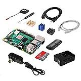Vemico Raspberry Pi 4 Model B 4 GB Ultimatives Kit con 32 GB Class10 Micro SD, 5,1 V 3,0 A USB-C de encendido/apagado, 3 Premium cobre disipador de calor, Micro HDMI de cable, Premium Negro Carcasa