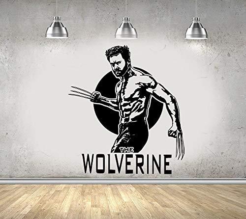 hetingyue Wolf Comics wandaufkleber Vinyl Aufkleber Kunst männer Kinder Junge Zimmer Dekoration Poster Fenster Dekoration 63x72 cm